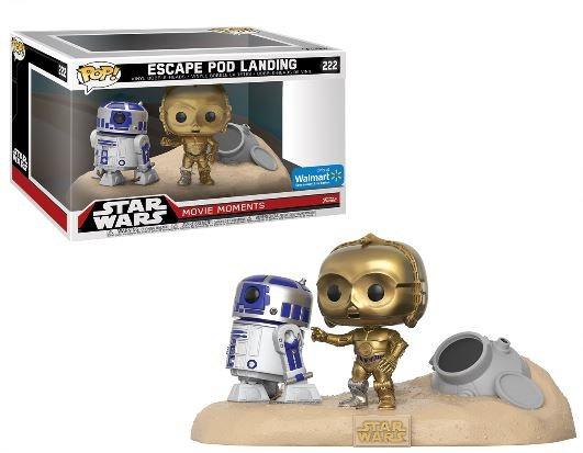 Star Wars Movie Moments  R2D2 and C3PO Tattoine Desert 222 Walmart Exclusive