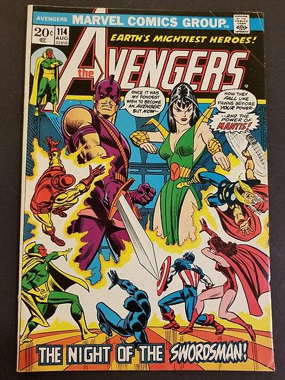 Avengers 114 FN+. 1st Mantis Cover.