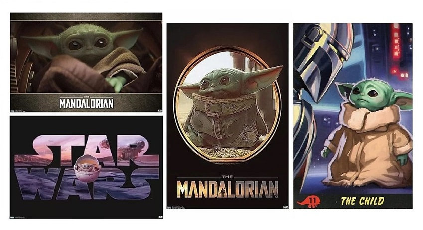 Star Wars The Mandalorian Baby Yoda Premium Poster