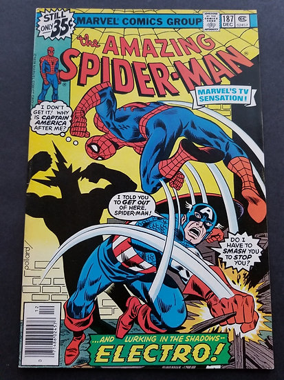 Amazing Spider-Man (Marvel) #187 NM- [Captain America appearance.]