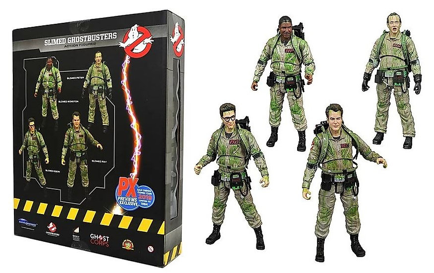 Ghostbusters SDCC PX Exclusive Slimed Action Figure Set Collectibles
