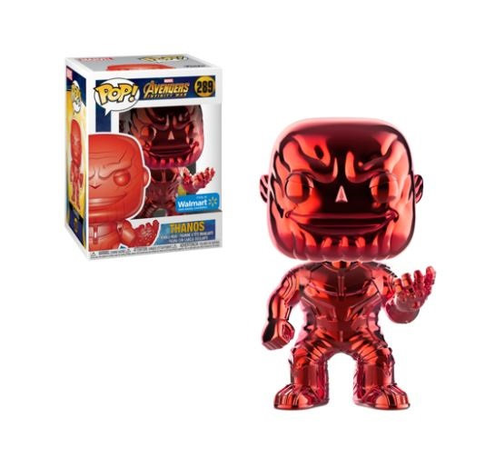 Marvel Avengers Infinity War Thanos  289 Red Chrome Walmart Exclusive