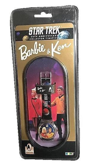 1996 Star Trek 30th Anniversary Collector Timepiece Barbie And Ken Wrist Watch