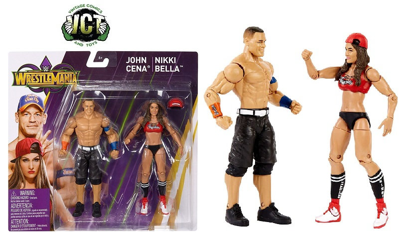 WWE Wrestling Battle Pack WrestleMania 34 John Cena & Nikki Bella Action Figure