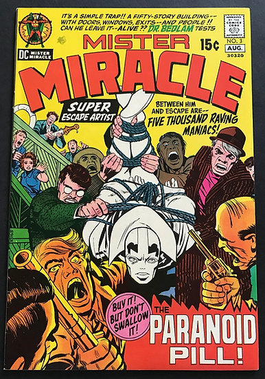 Mister Miracle (1971 1st Series) #3 NM [Military Star Stamp]