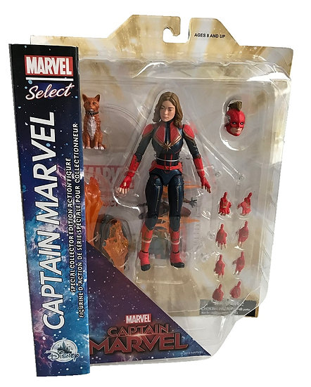 Marvel Select Captain Marvel Action Figure Sets With Goose Disney Exclusive