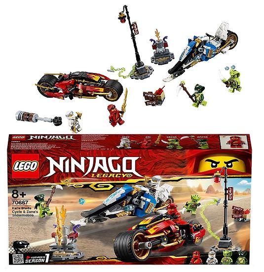 Lego Ninjango Legacy Kai's Blade Cycle & Zane's Snowmobile 70667