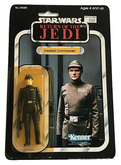 1983 ROTJ Star Wars Imperial Commander MOSC 65 Back