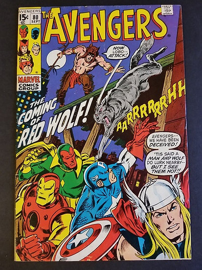 Avengers (Marvel ) #80 FN- [1st Appearance of Red Wolf]