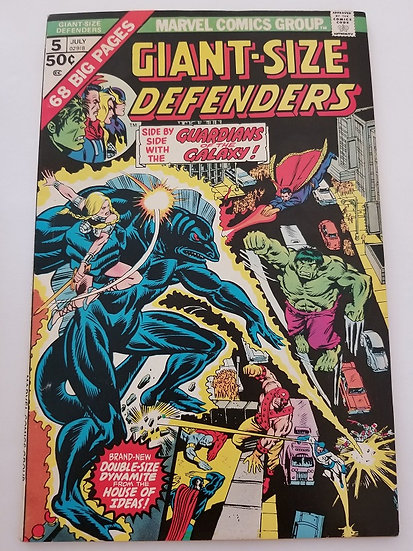 Giant Size Defenders(1974)#5 VF/NM Key appearance of the Guardians of the Galaxy