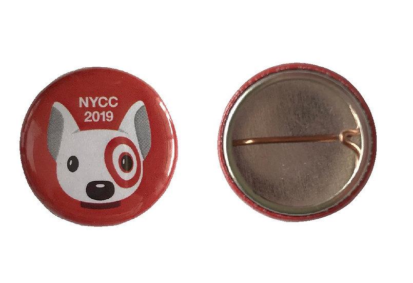 NYCC Exclusive Target Bullseye 1 inch Mini Pin