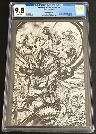 Amazing Spider-Man 798 Kirkham Sketch Cover CGC 9.8 White Pages