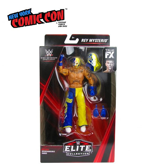 WWE Network Spotlight Elite Collection Rey Mysterio Action Figure - NYCC Debut