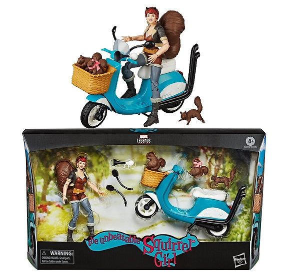 Marvel Legends Series The Unbeatable Squirrer Girl With Vehicle Action Figure