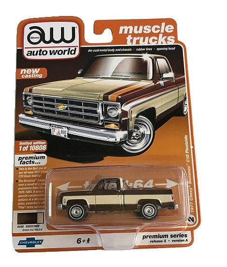Auto World 1977 Chevy Bonanza C10 Fleetside Truck