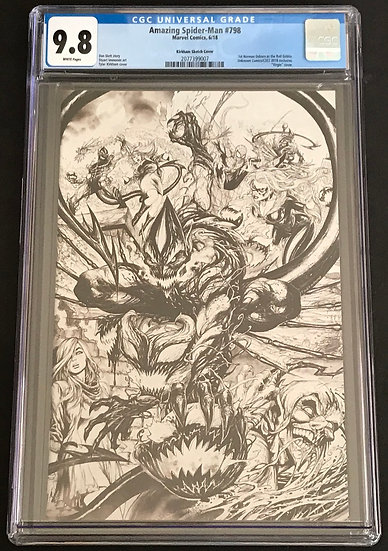 Amazing Spider-Man (Marvel) #798  Kirkham Sketch Cover CGC 9.8 White Pages
