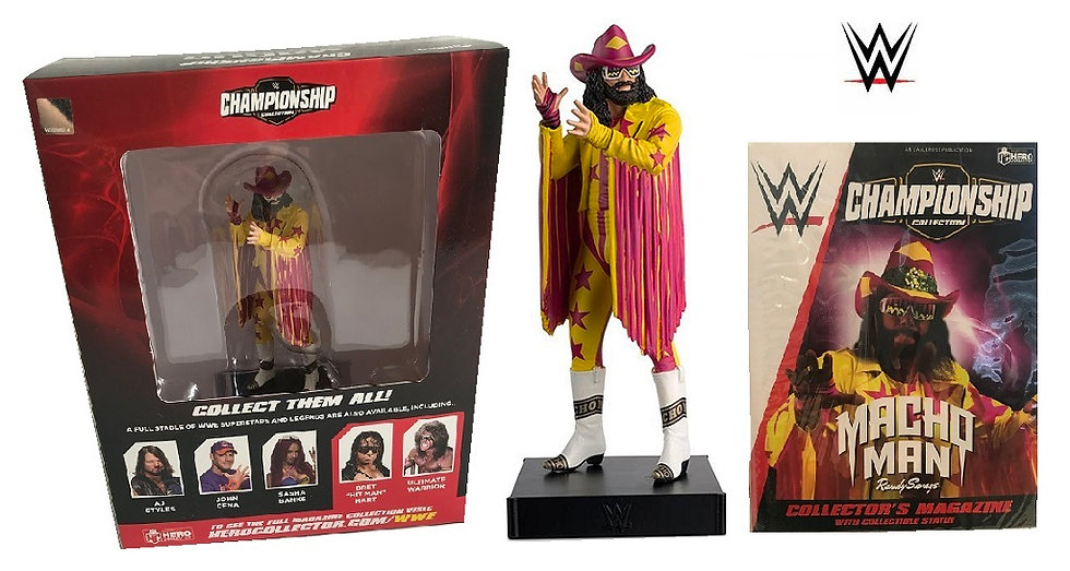 WWE Championship Collection Macho Man Statue with Collector Magazine