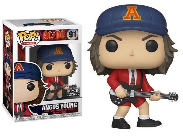 Funko Pop AC DC Angus Young 91 Fye Exclusive