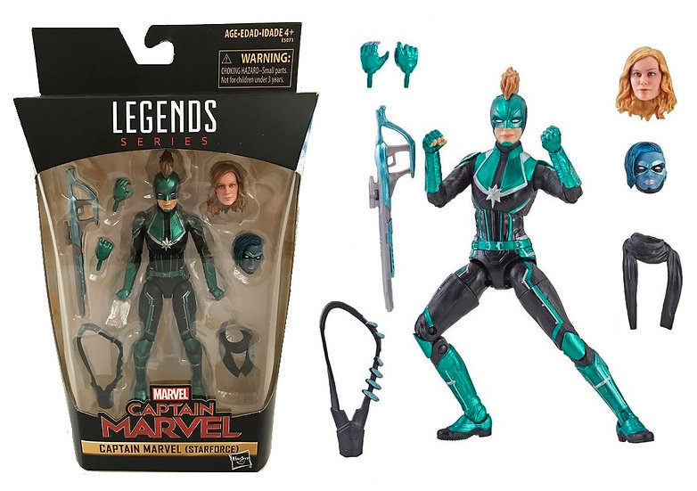 "Marvel Legends Series 6"" Captain Marvel [Star Force] Action Figure"