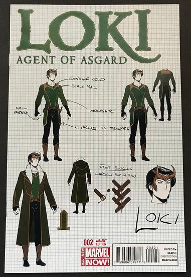 Loki Agent of Asgard (2014) #2B [Mckelvie Variant NM]