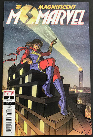 Magnificent Ms. Marvel (2019 Marvel) #2 VF/NM [Retailer Incentive Variant Cover]