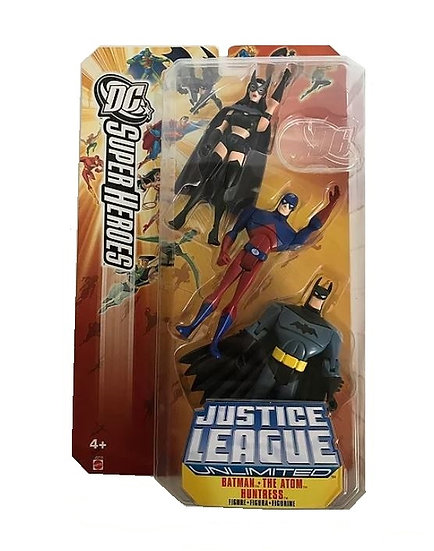 DC Super Heroes  Justice League Unlimited Batman The Atom Huntress Multi Pack