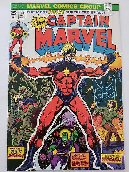 Captain Marvel (1968 1st Series Marvel) #32 VF+ Thanos Appearance
