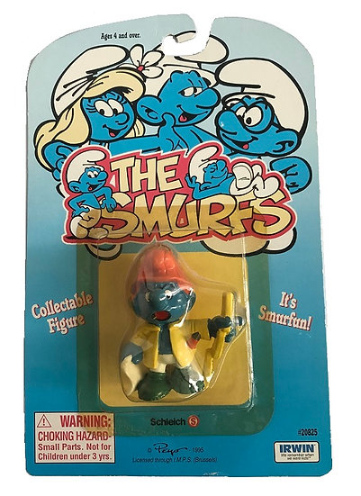 1995 Vintage The Smurfs  Handy Smurf Figure