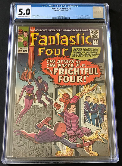 Fantastic Four (Marvel) #36 CGC 5.0 Off-White To White Pages