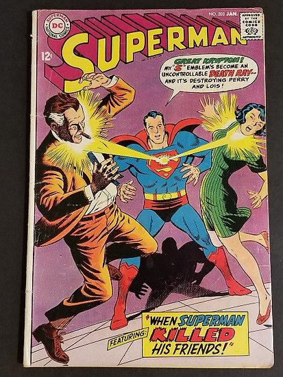 Superman (1939 1st Series) #203 VG