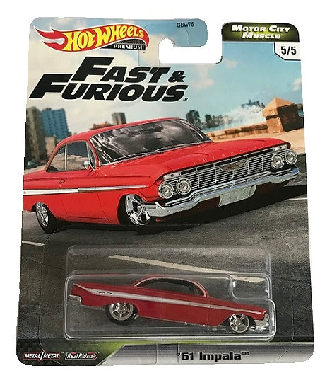 Hot Wheels Premium Fast & Furious Motor City Muscle '61 Impala