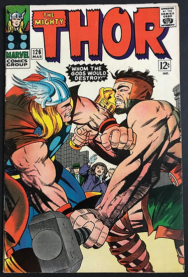 Thor (1962-1996 1st Series Journey Into Mystery) #126 VF-