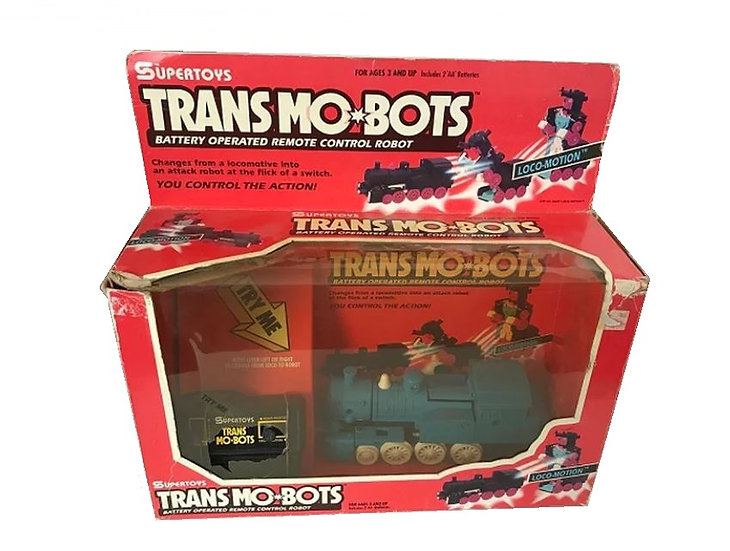 Vintage 1993 Supertoys Transmobots Battery Operated Remote Control Robot