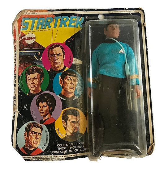 1974 Vintage Mego Star Trek Mr. Spock 8 inch Figure [Bubble Damage]