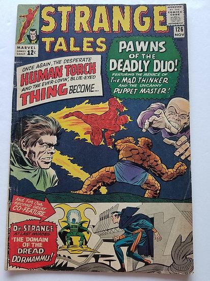Strange Tales (1951-1976 1st Series) #126 VG 1st Dormammu