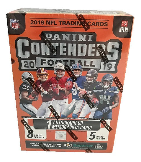 Panini Contenders 2019 NFL Trading Cards Blaster Box