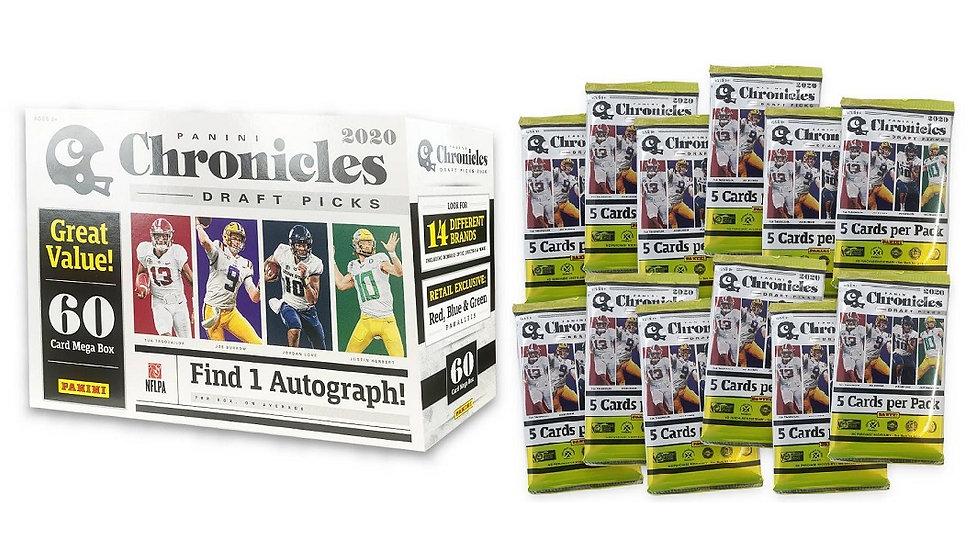2020 Panini Chronicles Draft Picks Football Mega Box