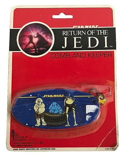 1983 Star Wars ROTJ Return of the Jedi Comb And Keeper on Card [New Sealed]