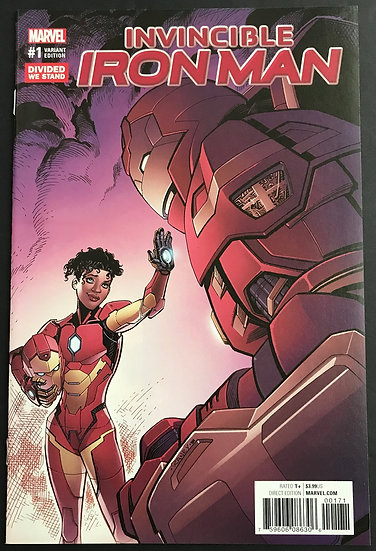 Invincible Iron Man (2016 3rd Series) #1 NM- Divided We Stand Variant Cover