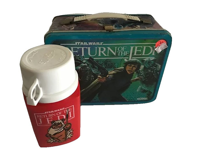 Starwars Return Of The Jedi Metal Lunch Box With Thermos