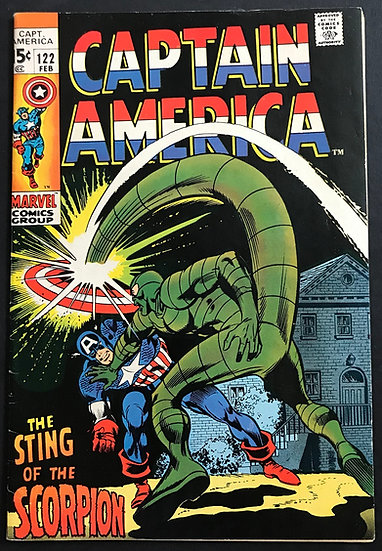 Captain America #122 VF+ [Scorpion appearance.]