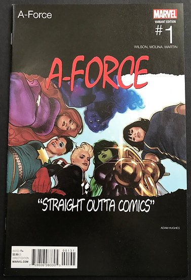 A-Force (2016 2nd Series) 1 Hip Hop Variant Cover  VF
