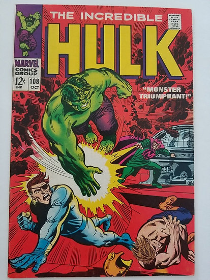 Incredible Hulk (1962-1999 1st Series) #108 VF Nick Fury Appearance