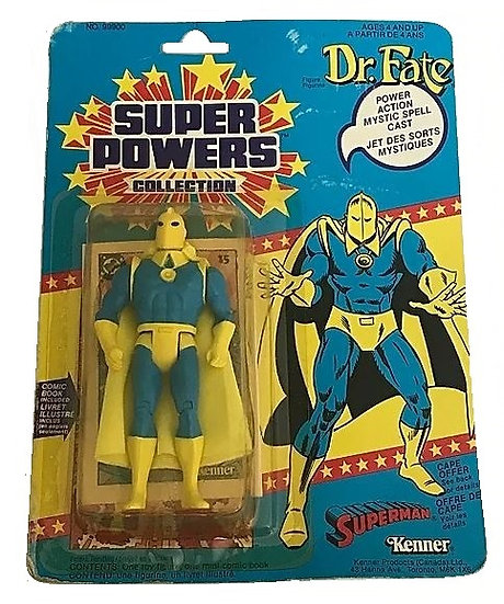 1985 Kenner Super Powers Dr. Fate MOC (Canada). Mint on card.