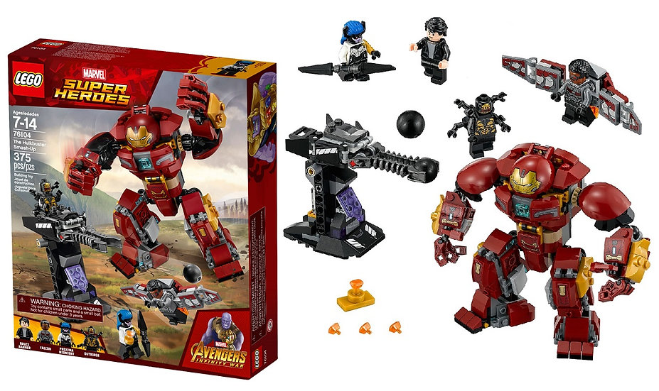 Lego Building Toys Marvel Super Heroes Hulkbuster Smash-up 76104
