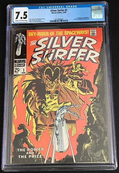 Silver Surfer 3 CGC 7.5 Cream To Off White Pages