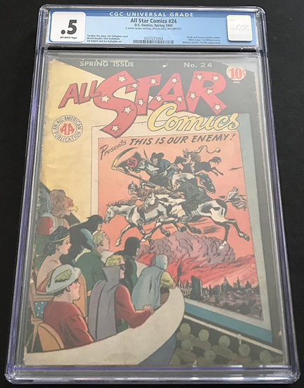 All Star Comics 24 CGC .5 Off White Pages
