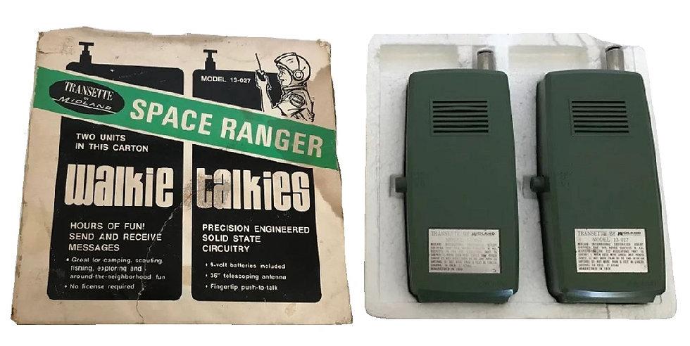 1970 Vintage Set Of Space Ranger Walkie Talkies, Transette Series