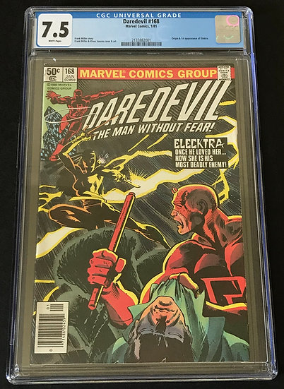 Daredevil (Marvel) #168 CGC 7.5 White Pages