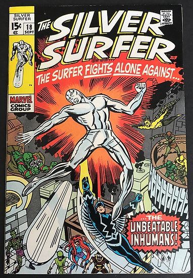 Silver Surfer (1968 1st Series) #18 VF/NM [Inhumans appearance.]